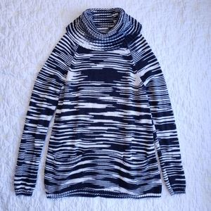 Lucky Brand Striped Turtleneck Tunic Sweater
